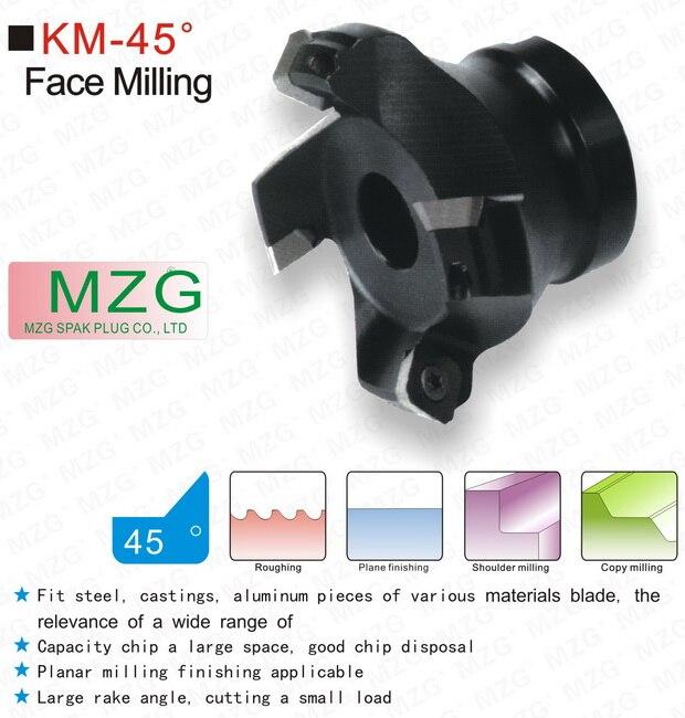 Mzg KM12R50-22-4T quatro sekt1204 carboneto inserir apertado