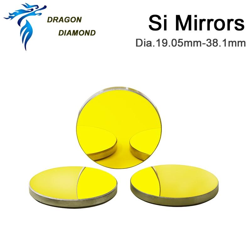3 pz CO2 Laser Reflectiver Mirror Dia 19.05mm 20mm 25mm 30mm 38.1mm - Strumenti di misura - Fotografia 4
