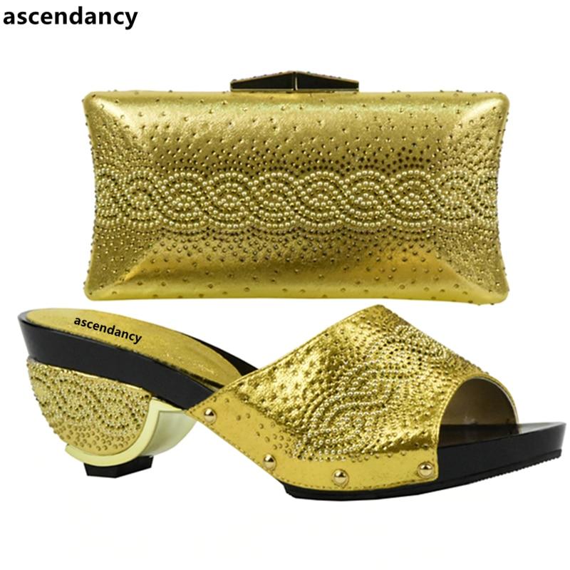Juego A Y Bolsas Oro Italia púrpura Italianas Decorado rosado Señoras oro Conjunto Cielo Mujeres Bolsa Azul plata En Zapatos Con De Color Rhinestone 7ZqZxwIa