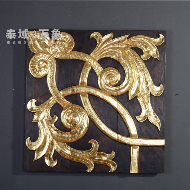 Soft loading relief carvings gilded hand carved ornaments