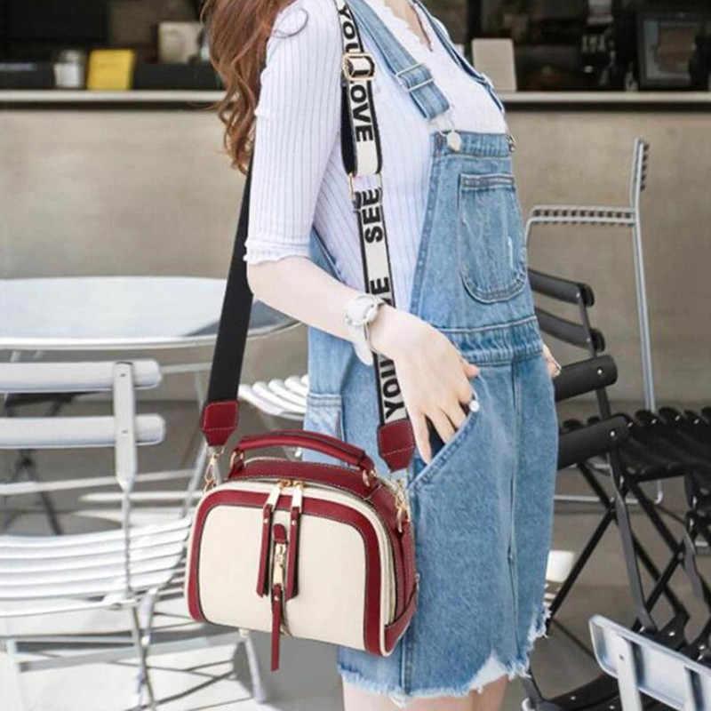 Sıcak küçük kontrast renk üst kolu çanta kadın Crossbody çanta telefonu çanta moda tek omuz fermuar PU deri çanta