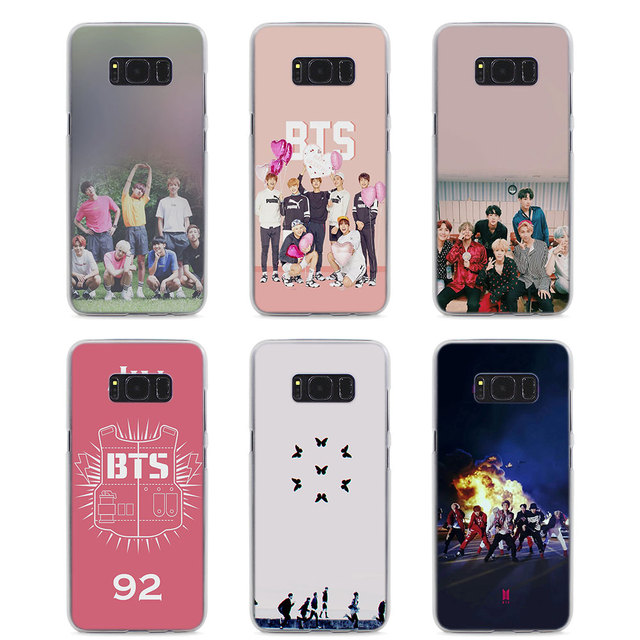 reputable site 404a5 c4eb2 US $2.98  MOUGOL Bts Wings bantang Style hard Clear Phone Case for Samsung  S9 S9Plus S8 S8Plus S6 S7 edge S5 Note8 5 4-in Half-wrapped Case from ...