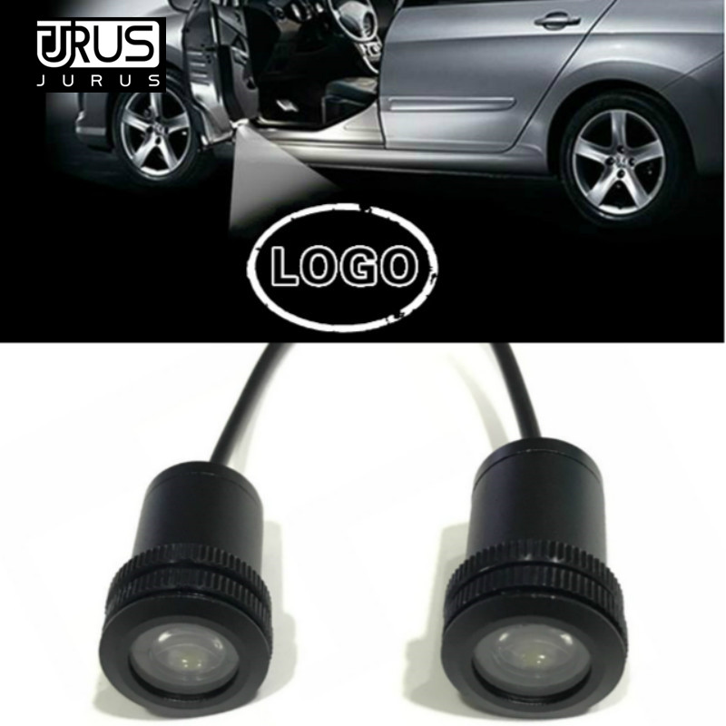 JURUS 2pcs For Lexus For Skoda For Scania For Daewoo Car Door Projector Light Courtesy Logo Laser Projector Led Ghost Shadow in Decorative Lamp from Automobiles Motorcycles