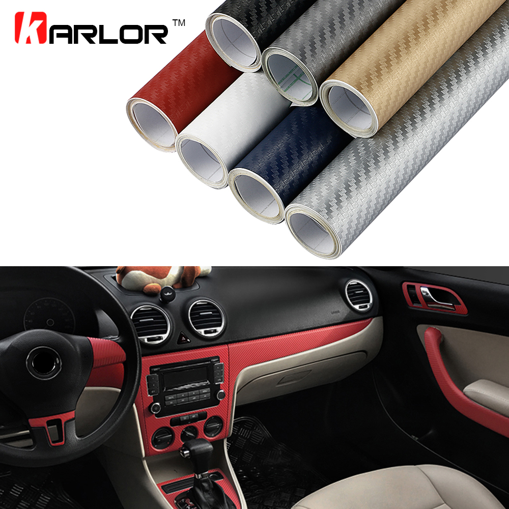 30x200cm 3D Carbon Fiber Vinyl Film Stickers For Ford focus 2 3 BMW Volkswagen Toyota Mercedes Renault Skoda Mazda Car Styling car styling metal 3d car stickers sport style motorcycle waterproof racing car covers sticker for renault opel bmw ford toyota
