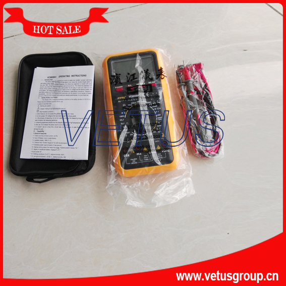 VC9808A+ 3 1/2 Digital Multimeter DCV,ACV,DCA,ACA,Resistance, Inductance,Capacitance, Frquency and Temperature test victor vc9808 3 1 2 digital multimeter dcv acv dca r c l f
