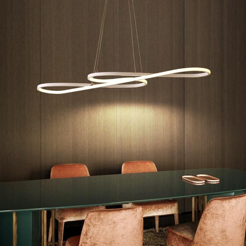 Modern Pendant Chandelier Lighting For Office Dining Living Room Kitchen 110v 220v Re White Black Led
