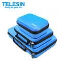 TELESIN GoPro Camera Conjunto Saco De Armazenamento Carry Case de Proteção EVA caixa para go pro hero 5 4 3 2 1, Xiaoyi SJ4000 SJ5000 Acessórios