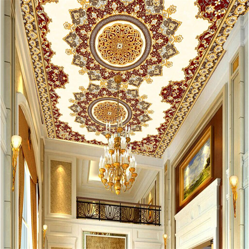 beibehang Custom wallpaper large high-end ultra high-definition European ceiling European background European carpet wallpaper 2016 european