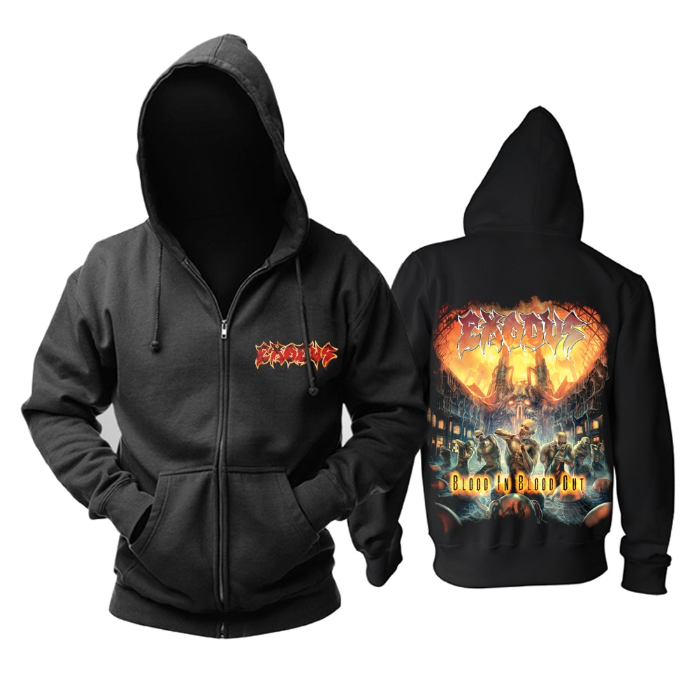15 видов ужасный Exodus sudadera рок хлопок толстовки оболочка куртка панк рокерский спортивный костюм тяжелая металлическая брэндовая одежда, спортивные футболки - Цвет: 9