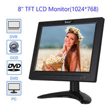 EYOYO 808H Ultra-thin 8 inch LCD Monitor Screen with AV BNC VGA USB HDMI Interface deo 4:3 for CCTV DVR Security