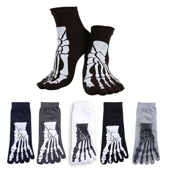 Носки с 3D-принтом в стиле панк-рок, унисекс, с рисунком ужаса, скелета, носочки в стиле хип-хоп, страшные, с принтом в виде черепа, короткие носки