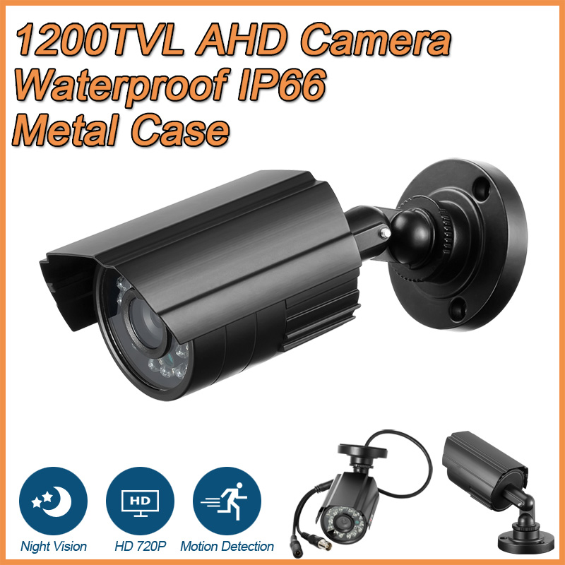 Metal Case 1200TVL HD Mini CCTV Camera Outdoor Waterproof IP66 24 LED Light IR-CUT infra ...