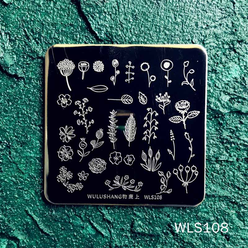 1 Pc  6*6cm Square Nail Art Stamping Plates Stencils Image Manicure Instrument Tools
