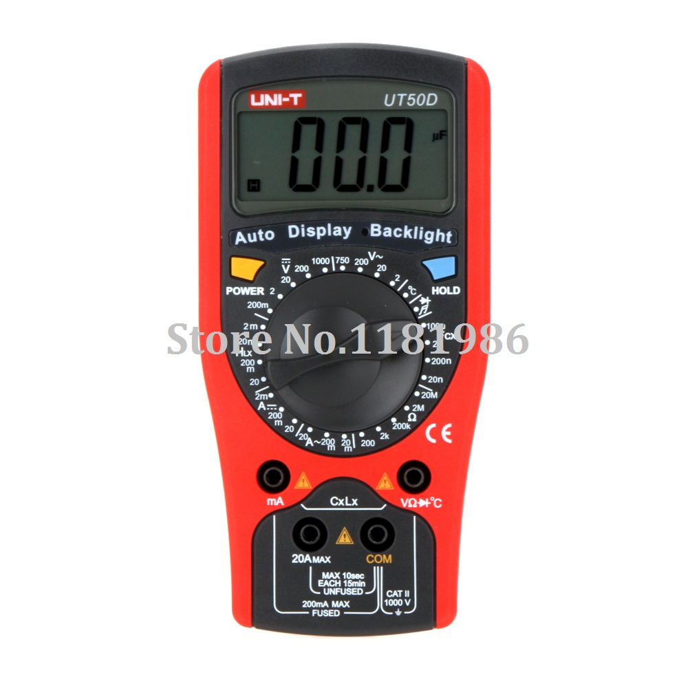 UNI-T UT50D Modern Auto Display Backlight DMM Digital Multimeters w/ Inductance & Temperature Test Multimetro LCR Meter  цены