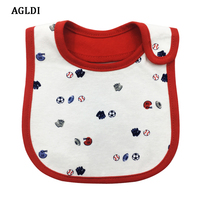 10PCS AGLDI Brand Baby Girl Boy Waterproof Cartoon Towel Kids Toddler Dinner Feeding Bibs Bandanas Burp
