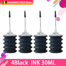 QSYRAINBOW 4 Pcs Black Universal 30ml dye ink K C M Y Refillable Ink kit For HP for Canon Brother Epson printer