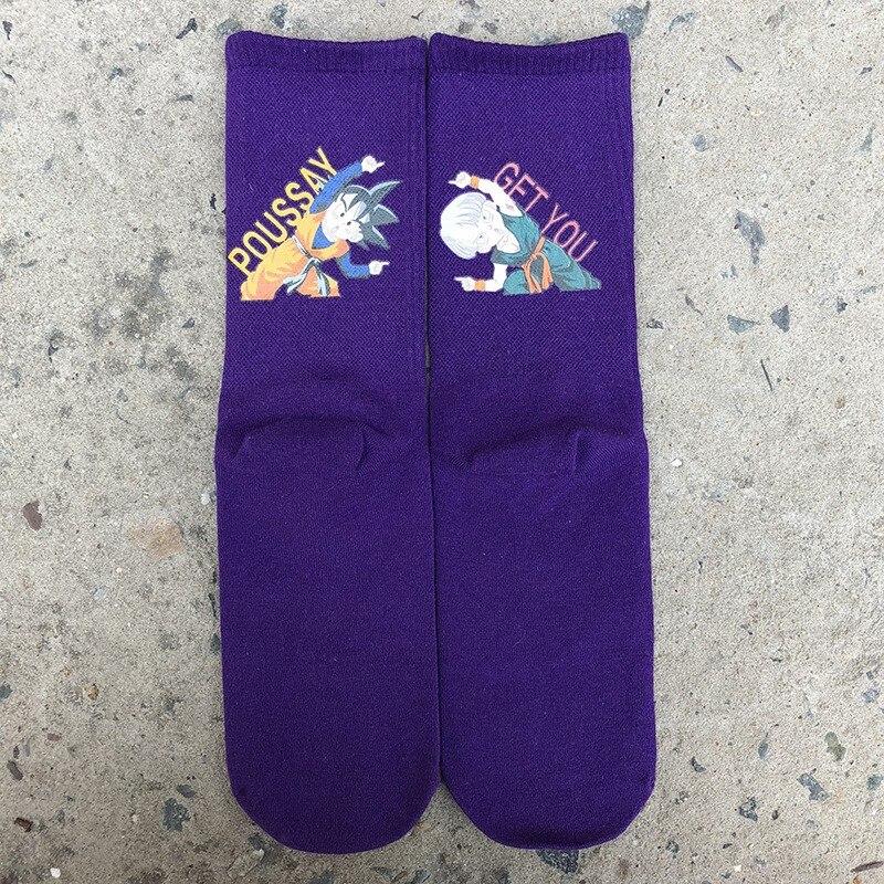 Men 39 s Socks Cartoon College Sports Cotton Breathable Socks Purple Couple Skateboard Socks 2019 New Casual Socks in Men 39 s Socks from Underwear amp Sleepwears