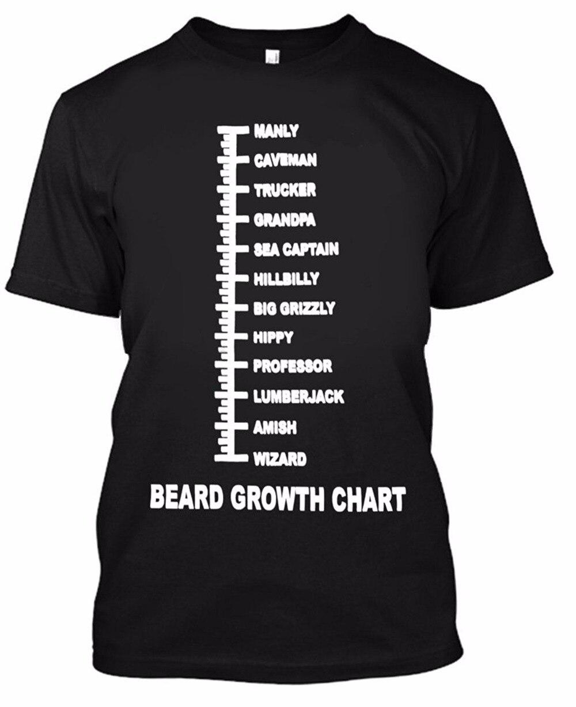 Junge männer baumwolle T shirt sommer o ansatz Bart Wachstum Chart ...