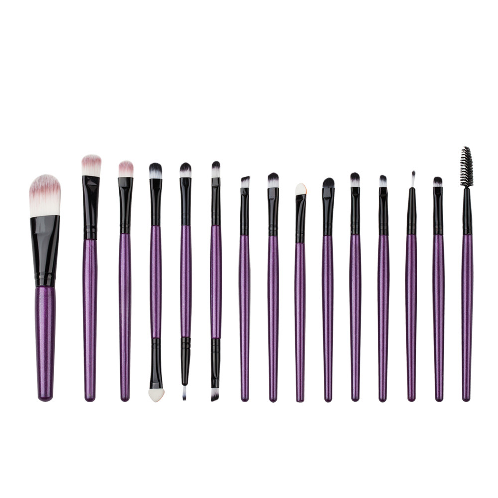 Professional 15Pcs Eye Shadow Foundation Eyebrow Lip Brush Makeup Brushes Comestic Tool Make Up Eye Brushes professional eye brush 15pcs