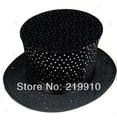 Free Shipping Folding Top Hat - Black Wave --Magic Trick, Fun Magic, Party Magic.