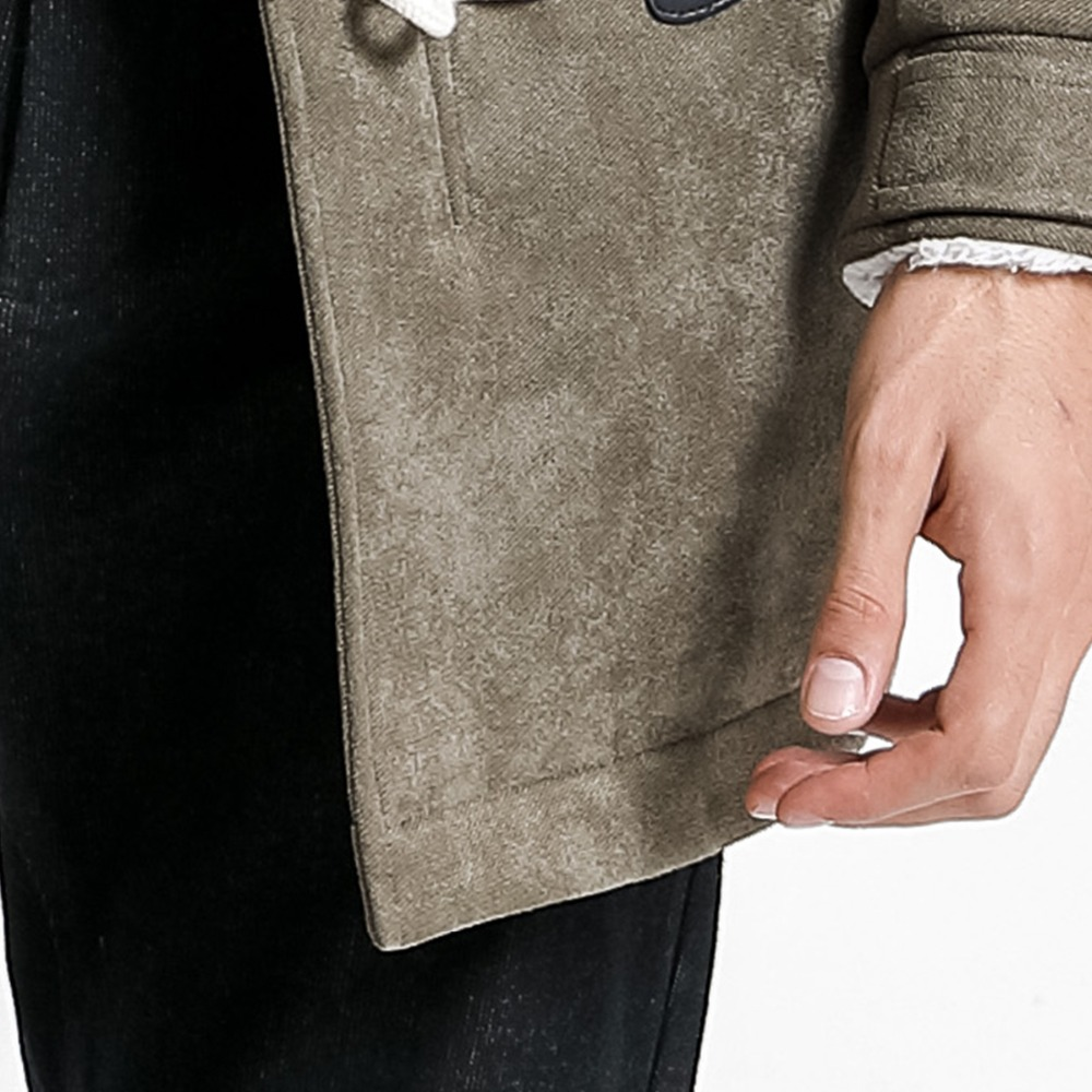 SIMWOOD 2019 Men Winter Coats Casual Long Faux Suede Men Jackets Winter Outerwear Warm Thick Brand Clothing manteau homme 180527