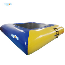 En14960 Certificated Airtight Customized Color And Size 0.9mm PVC Inflatable Trampoline Inflatable Bouncer Water Trampoline