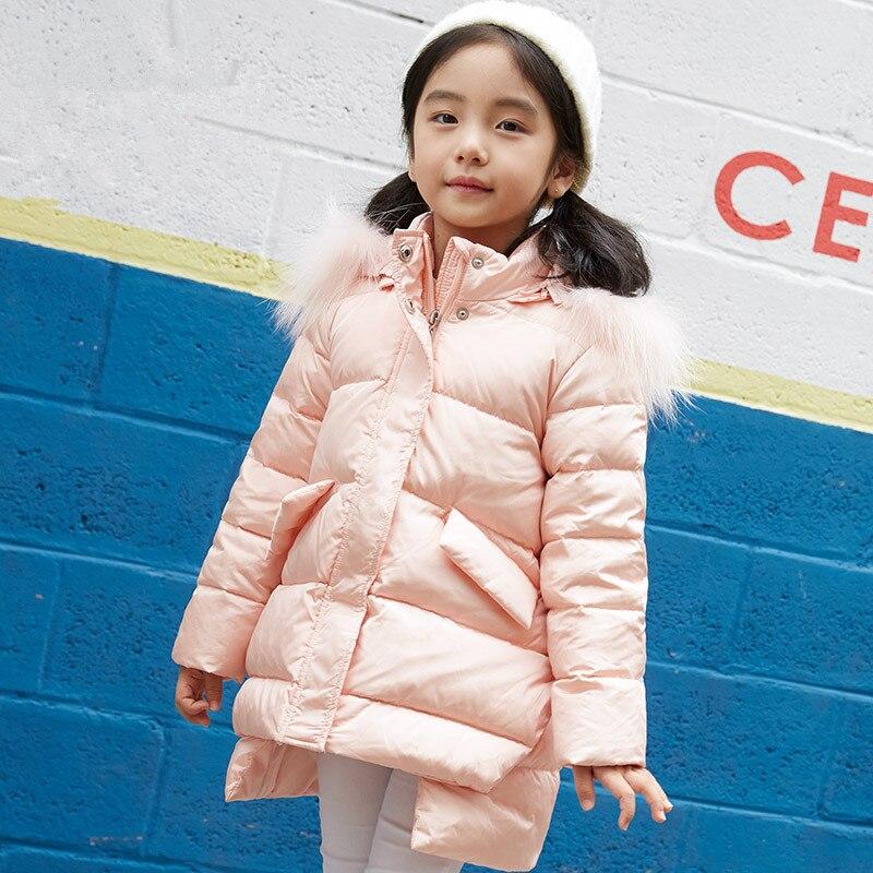90% Duck Super Light Duck Down Jacket for Girl Baby Winter Outdoor Coat