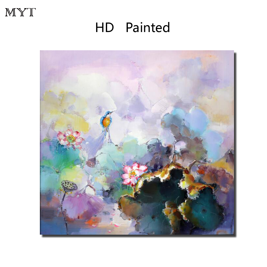 Pop pretty gift Lotus flowers HD Printed Painting Home Decorater Art Picture For bed room living room No Framed or Diy Framed