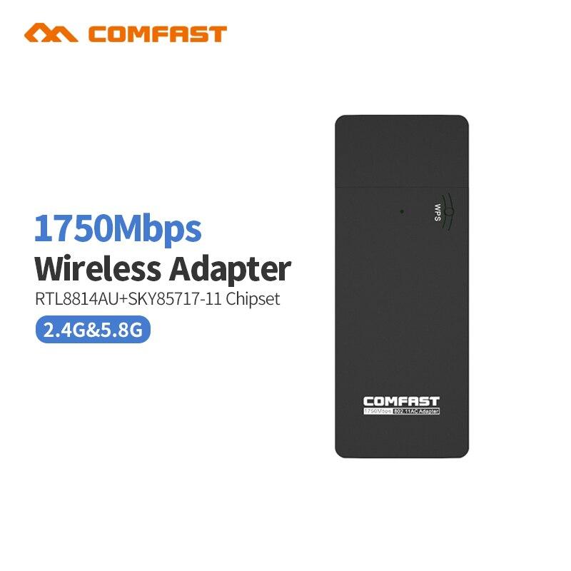 Prix pour Comfast cf-917ac 1750 mbps dual band 11ac sans fil n 2.4g + 5.8g usb wi-fi wifi adaptateur 802.11ac/a/b/g/n réseau emetteur