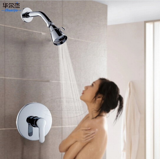 ФОТО brass rain shower faucet set