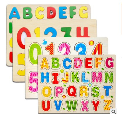 Free shipping Baby RainBow Numbers Letter  jigsaw puzzle Early childhood educational toys Early Learning Toy children s early childhood educational toys the bear change clothes play toys creative wooden jigsaw puzzle girls toys