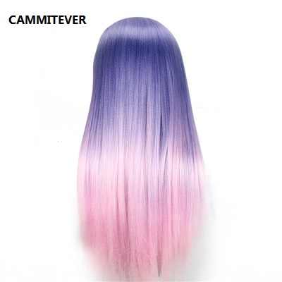 CAMMITEVER Purple Pink Hairdressing Training Heads Hair 20 inch Mannequin Head With Long Hair High Quality Hair Practice Head