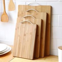 Деревянные разделочные инструменты блоки бамбуковые прямоугольные подвесные разделочные доски прочные нескользящие кухонные принадлежности разделочная доска 1 шт