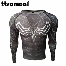 Itsameal Captain America T Shirt 3D Printed T-shirts Men's Avengers Black Spider Man Tees Fitness Clothing Male Crossfit Tops