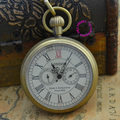 Купон для оптовая продажа покупателя цена высокое качество дед мужчина античные ретро бронза 5 руки лондон механические карманные часы час