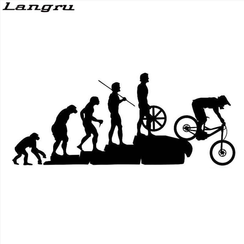 Langru Yeni Tasarım Ilginç Dağ Bisikleti Yokuş Aşağı Araba Çıkartmaları Kapsayan Vücut Karikatür Vinil Çıkartmaları Jdm