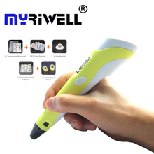 3d pen Myriwell 2nd Generation LED LCD Display DIY 3D Printing Pen Arts 3d pens For Kids Drawing Tools high quality