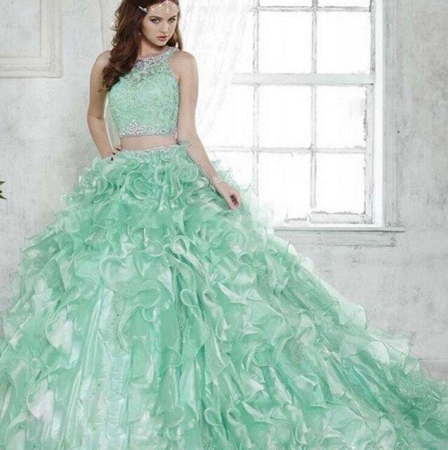 835619650 De dos Piezas de Vestido de Quinceañera 2017 Desmontable del vestido de  Bola vestidos de 15