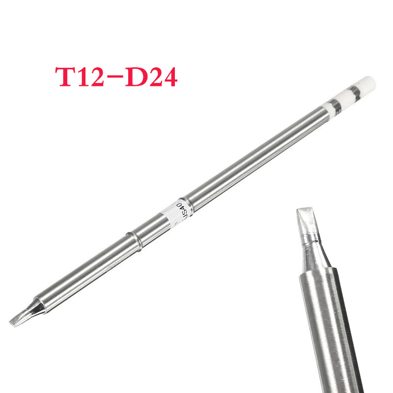 1pc T12-D24 Replace Soldering Solder Iron Tip For Hakko Shape-2.4D PCB Repair Product