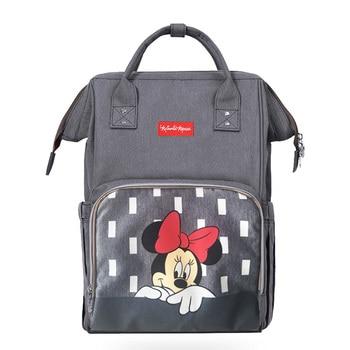 Popok Tas Ransel Maternidade Tahan Air Stroller Tas Botol Bayi Hangat Mickey Minnie Perjalanan Ransel Tas Bayi untuk Ibu