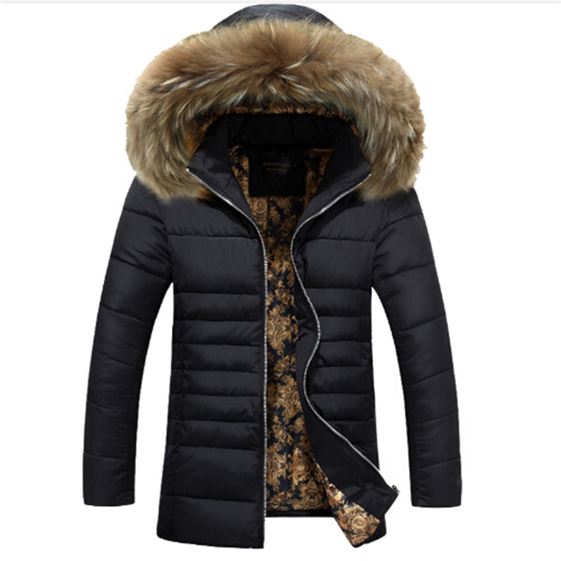 ФОТО 2016 Hot Sale Men Hooded Down Jacket Coat Thick Winter Parka Warm Duck Down Padded