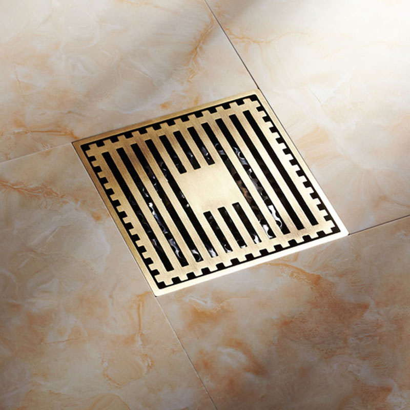 Modern New Antique Brass Square Shape Bathroom Shower Floor Drain Washer Grate Waste Drain 4 women winter army green jacket coats thick parkas plus size fur collar hooded cotton outwear winter jackets women 6 colors c1690