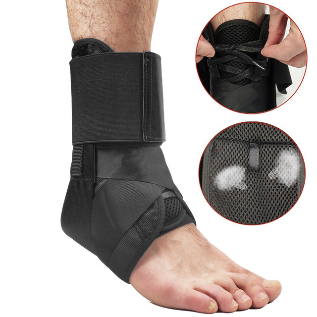 Ankle Brace Support Lace Up Adjustable Ankle Protection Sleeve Tendinitis Spraining Prevention Foot Stabilizer Ankle Protector