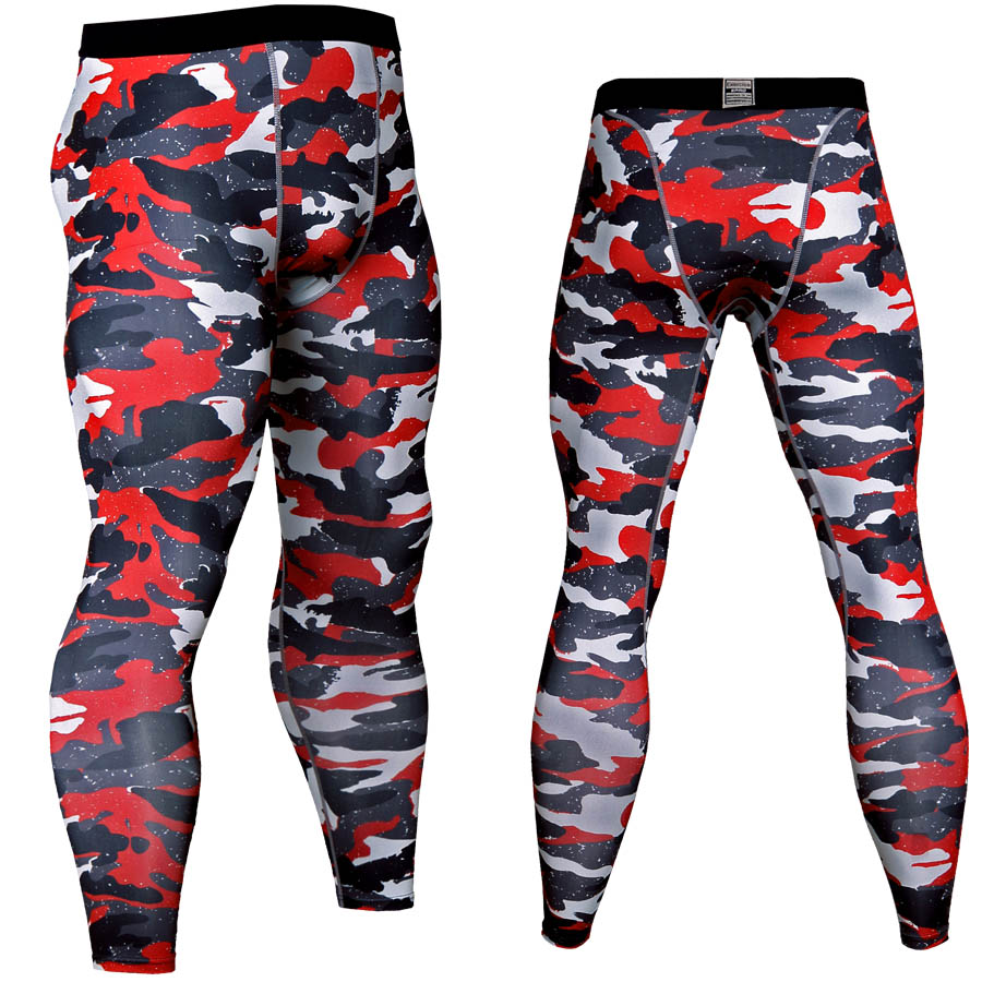 Crossfit Pants Men Mixed Color Camoflage Compression Pants Sportswear Sweatpants 3D Pants Quick Dry Fitness Leggings Tight MMA