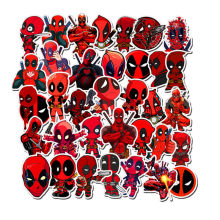 35pcs Super hero Deadpool Marvel DC sticker graffiti sticker DIY sticker suitcase laptop bicycle refrigerator car snowboard(China)