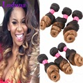 Ombre Brazilian Loose Wave Virgin Hair Ombre Hair Extensions 8''-30'' 3 Bundles Brazilian Ombre Hair #1b/27 Human Hair Weave