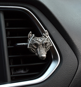 Винтажный большой автомобильный диффузор для эфирных масел Vikings Wolf, медальон для длительного времени ароматерапии