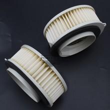 цена на for Yamaha Vstar XVS400 1996-2016 XVS650 1997-2016 Metal+Paper Motorcycle Air Filter & Systems Intake Air Cleaner White 1pair