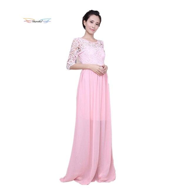 summer girl dress women dresses maxi beach dress Bridesmaid long dress  floral lace chiffon grown wedding prom white k223 316d896b7