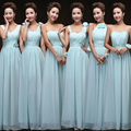 Vestido De Festa De Casamento Sky Blue Bridesmaid Dress Long Sweet Chiffon Blush Pink Bridesmaid Dress Under $50 Dama Dresses